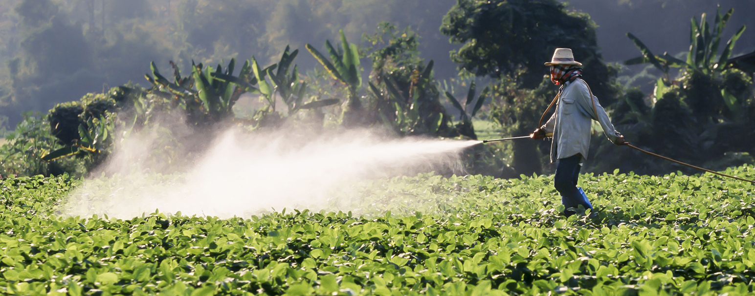 Spraying crops with pesticides - the EPA is intending to weaken the Agricultural Worker Protection Standards.